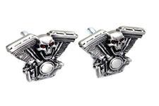 Skull on Panhead Engine License Plate Topper Set For Harley-Davidson