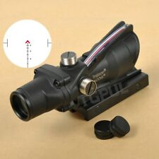 ACOG 4x32 Chevron BDC Scope Reticle Sight Clone CHEVRON Red Fiber Optic Scope