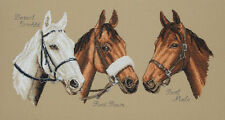 Anchor - Counted Cross Stitch Kit - Three Champions - Horses  - PCE731