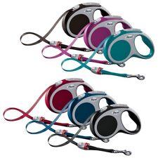 Flexi Retractable Strong Reflective Tape Cord Vario Pet Dog Lead 3, 5 & 8 Metres