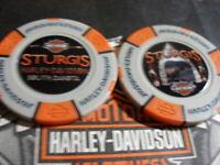 "Grey & Orange  ""Arrowhead"" Poker Chip Sturgis Harley Davidson Sturgis, SD"