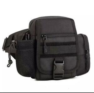 Mens Tactical Travel Cycling Walking Camera Holiday Bag  Black