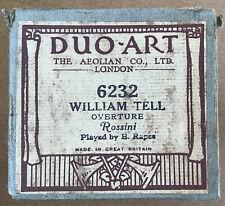 Duo-Art - WILLIAM TELL OVERTURE - Rossini ~~ POST FREE