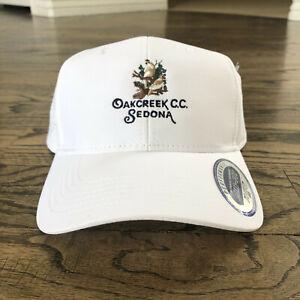 AHEAD Oakcreek Country Club Sedona Arizona Golf Hat White adjustable MidFit NEW