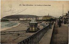 CPA Espagne SAN SEBASTIAN - La Concha y la Caseta Real (303977)