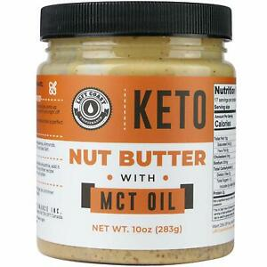 Keto Nut Butter Fat Bomb [Crunchy] New 10 Oz Size! Macadamia Low Carb Nut Butter
