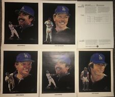 1982 UNION OIL 76 VOLPE PRINTS LOS ANGELES DODGERS BASEBALL LOT Yeager Morales