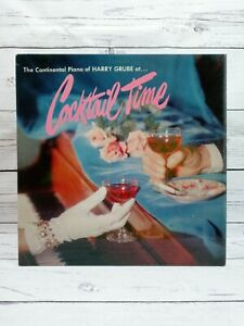 The Continental Piano of Harvey Grube at Cocktail Time LP Vinyl Record P-800
