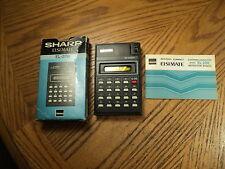 Sharp EISIMate Calculator No. EL-206 w/ Original Box & Instructions   Japan