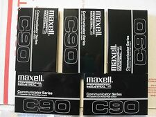 Lot of 5 Maxell Communicator Pro. Series P/I C90 CASSETTE TAPES New and Sealed B