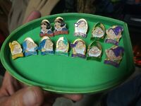 Disney Snow White 7 Dwarfs - Full Pin Set w/extra pins - 12 Pieces