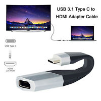 USB Type-C to HDMI Adapter Cable For Samsung Galaxy S9/S10 Plus/Macbook/iPad Pro