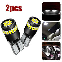 2x White T10 24SMD LED CANBUS Error Free Car Interior Light Dome Map Lamp Bulbs