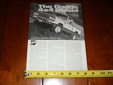 1978 DODGE DIESEL 4X4 - ORIGINAL ARTICLE