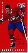 Autographed 1994 Parkhurst Tall Boy Claude Larose Card #71 Montreal Canadiens