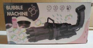 Gatling Bubble Machine Bubbler Maker - Black - NEW