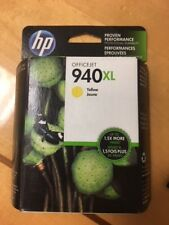 HP 940XL Yellow Ink Cartridge OFFICEJET C4909AN 2015 FACTORY SEALED