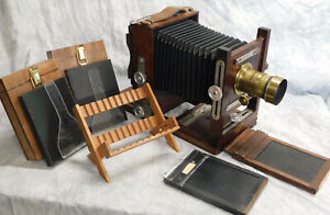 Wet Plate Collodion Keith 4x5 Large Format Camera Outfit w/ Brass Darlot Lens