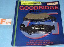 2 plaquettes de frein arrière GOODRIDGE HONDA NSR 250 RVF 400 750  RR NR VFR 750