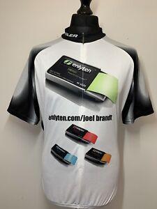 VOLER USA Club Raglan Black & White Men's Cycling Shirt Jersey Short Sleeve 2XL
