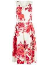 DAMSEL IN A DRESS Preppy Full Dress White Pink Floral Shift Dress UK 14