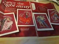 Las tarjetas de gráficos de punto de cruz de baile-salón de baile, país, español, Jive