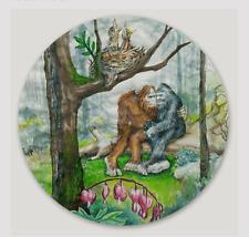 "Springtime Sweetheart's  3"" round Bigfoot Sticker"