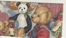 TEDDY BEARS CHECKBOOK COVER  PANDA BEAR  NEW FABRIC