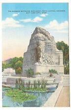 Mormon Battalion Monument, State Capitol, Utah, Unused Vintage Linen Postcard