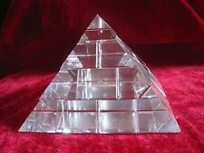 A*1008g Lab-grown Clear Quartz Crystal Special Pyramid Statue Carving 060701