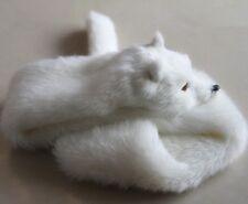 New winter female fox faux fur wrap scarf adults children decoration wrap white
