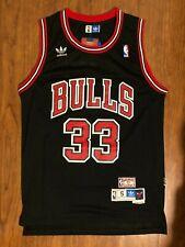 Scottie Pippen Chicago Bulls Vintage Throwback Swingman  Black Jersey