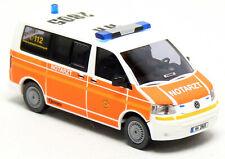 Wiking VW Volkswagen T5 Bus NEF Notarzt Feuerwehr BF Hamburg Barmbek 1:87 H0