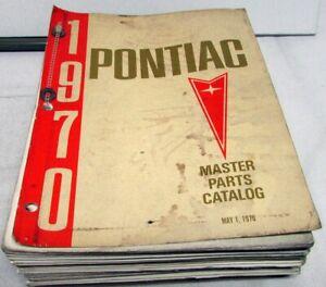 1970 & Earlier Pontiac Dealer Master Parts Catalog Book GTO Firebird Tempest