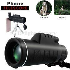 40X60 Zoom Optical Lens Monocular Telescope + Clip & Tripod For Mobile Phone