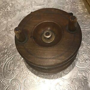 Vintage wooden fishing reel