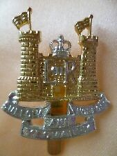 Staybrite Suffolk and Norfolk Yeomanry Cap Badge Anodised maker JR GAUNT
