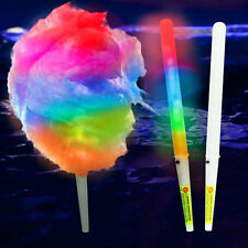 LED Glow Cotton Candy Cone Fairy Floss Stick Clear Marshmallow Stick for Party~