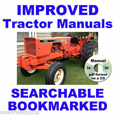 Allis Chalmers AC 170 & 175 TRACTOR Service SHOP Repair MANUAL CD - SEARCHABLE!