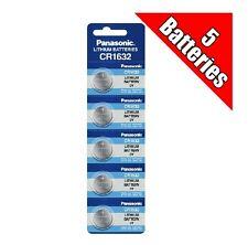 Panasonic CR1632 Lithium Batteries 3V 5 Pack