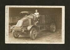 1914 Transportation Postcard Fairmont West Virginia ICE TRUCK Renault RPPC Photo