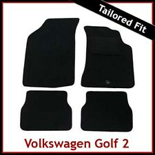 Volkswagen VW Golf Mk2 1983-1992 Tailored Carpet Car Floor Mats BLACK