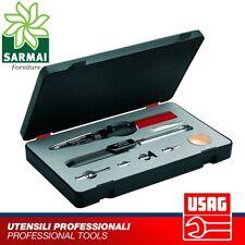 USAG 060K Kit Saldatore portatile penna a gas butano stagno accessori valigetta