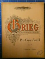 Edition Peters No.2653 Grieg Peer Gynt Suite II Opus 55 Klavier zu 2 HändenH8163