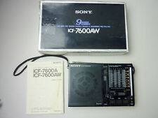 SONY ICF-7600AW FM/MW/SW Vintage Radio Receiver  Made in Japan
