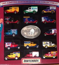 "Matchbox 1995 Limited Edition Club Car Collectables NBL -14pc Ford Model""A""Vans"