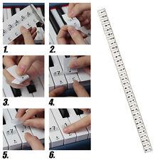 Piano Elektrische Klavier Keyboards Musik Note Aufkleber Stickers für 61/54 Key