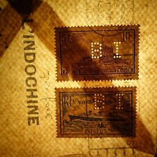 TIMBRE PERFORÉ BANQUE DE L'INDOCHINE LETTRE COVER -> TONKIN ANCOPER BI 110