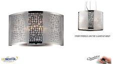 Lampada da parete in metallo con decori in alluminio specchiato APPLIQUE MODERNO