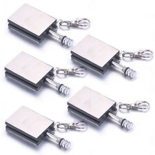 5PCS Permanent Match Box Refillable Lighter Striker Gadget Novelty With Key Ring